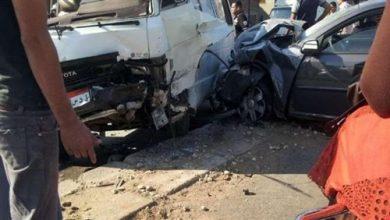 إصابة 5 أشخاص فى حادث تصادم