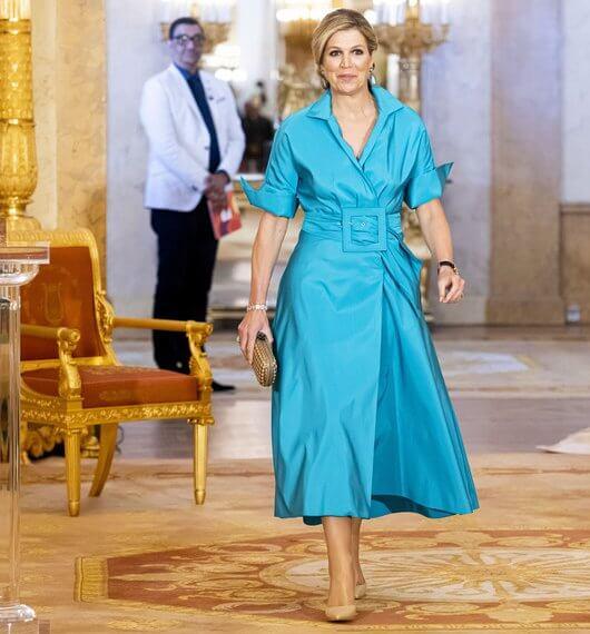 الملكة «ماكسيما» في الحفل -الصورة من موقع New my royals