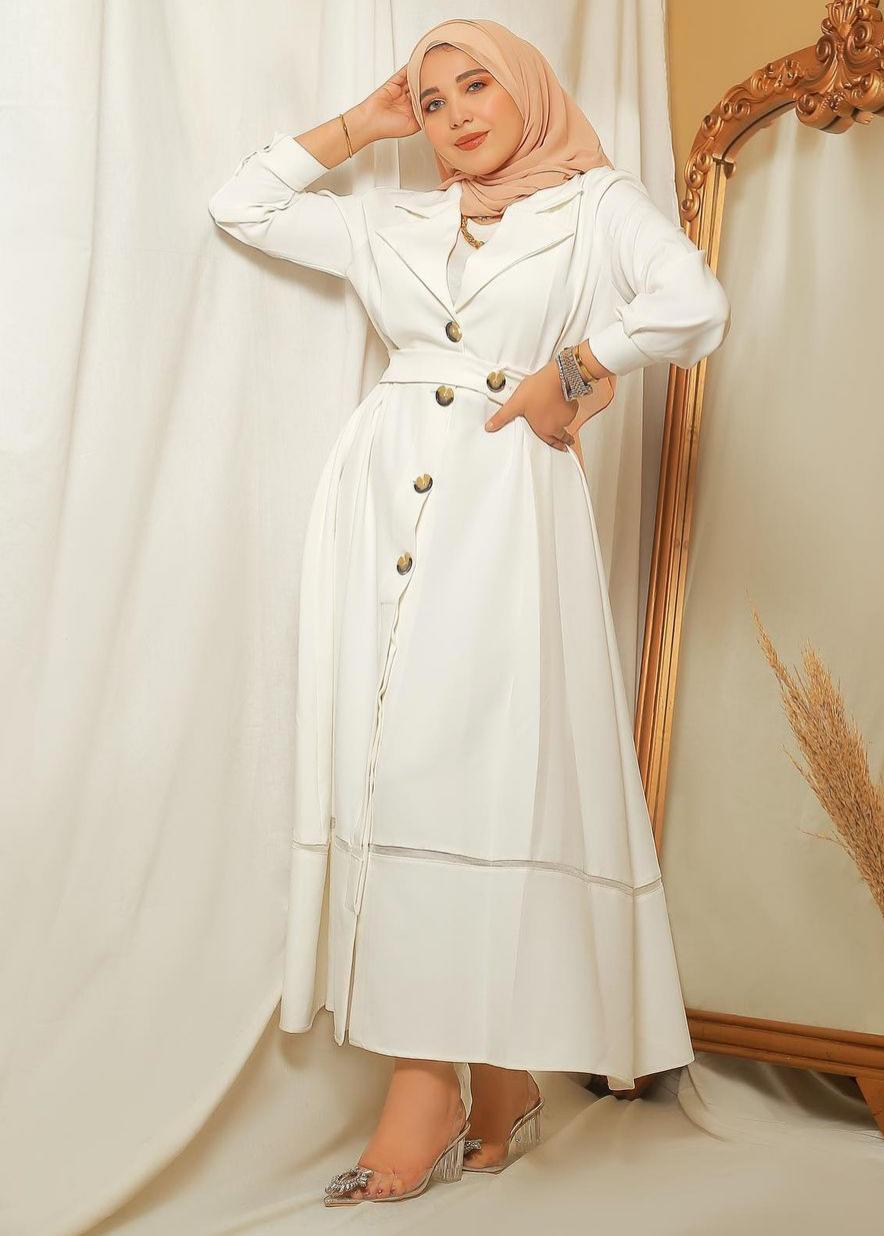الفساتين البيضاء بأسلوب حنان الحكيم