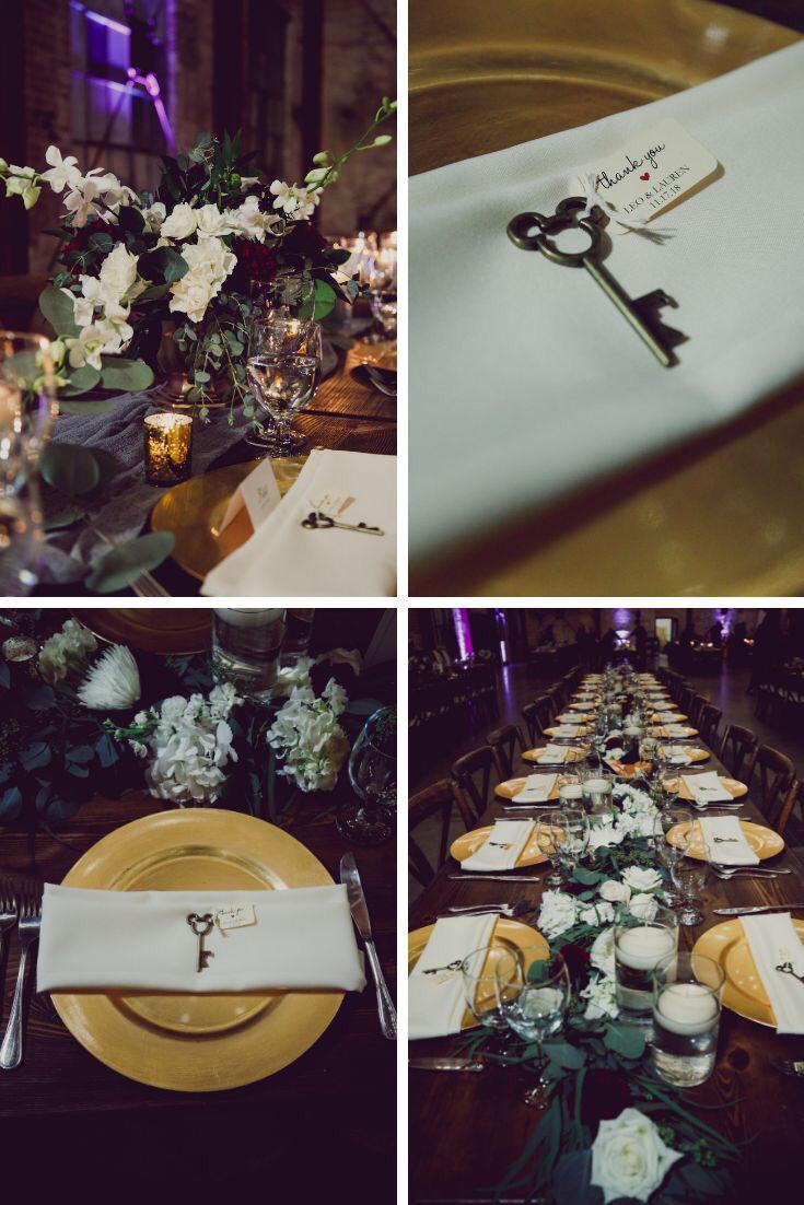 مناديل الطعام على طاولات استقبال الضيوف