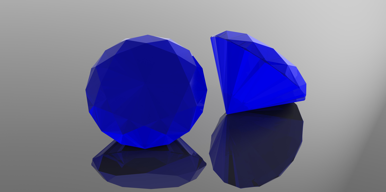 حجر ياقوت أزرق فاخر