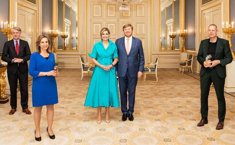 الملك «ويليام ألكسندر» والملكة «ماكسيما» في الحفل -الصورة من موقع New my royals