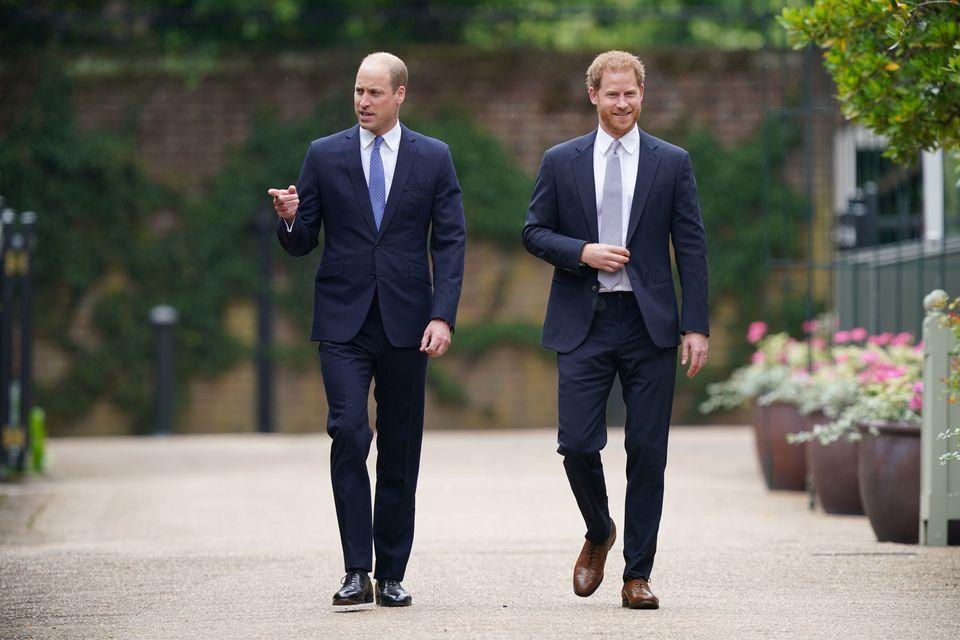 الأميران ويليام وهاري- الصورة من موقع رويترز