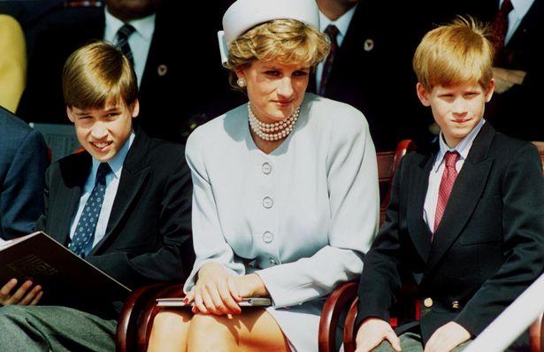الأميرة ديانا مع ابنيها ويليام وهاري- الصورة من موقع --ميرور