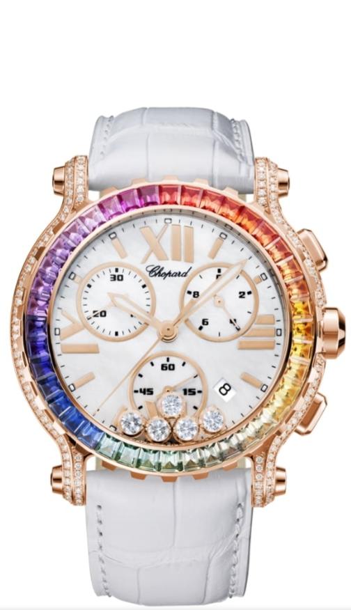 ساعة يد مرصّعة بالأحجار الملونة من علامة شوبارد Chopard لعيد الاضحى ٢٠٢١