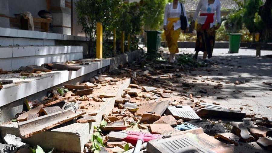 زلزال بقوة 5.7 درجات في جزيرة بالي الإندونيسية لم يؤد إلى وقوع ضحايا
