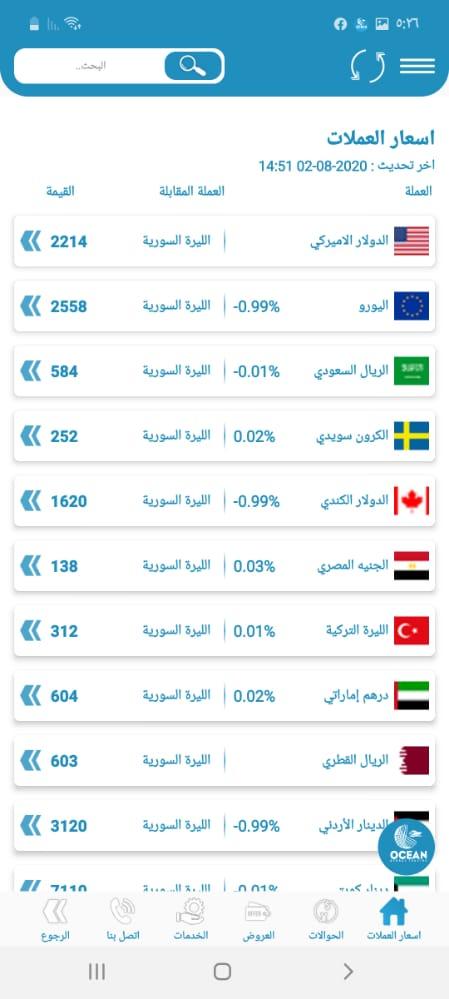 تطبيق الليرة السورية تطبيق دقيق بعرض السعر