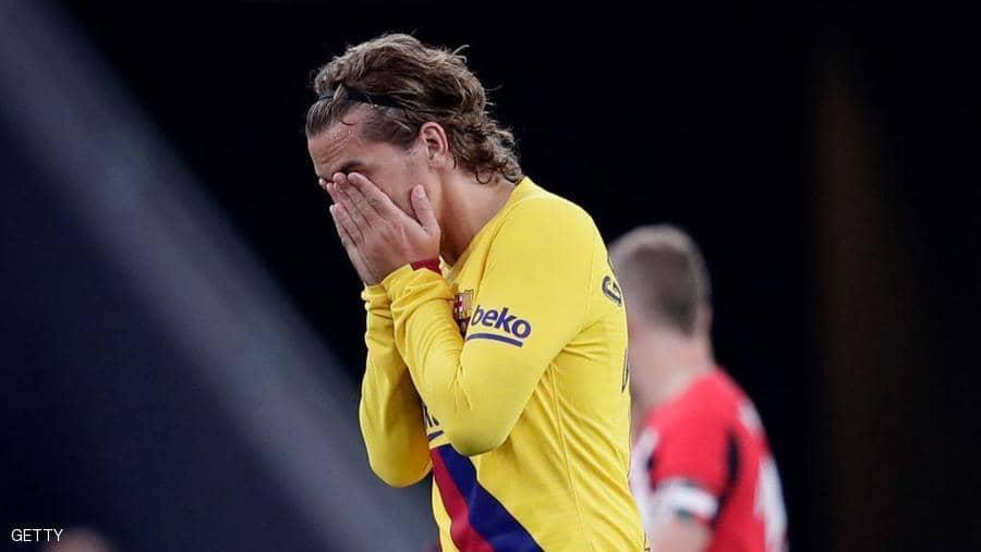 برشلونة يخسر بهدف قاتل سجله أرتيز أدوريز لاعب أتلتيك بلباو