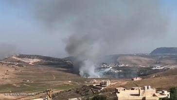 الجيش الاسرائيلي يقصف جنوب لبنان في منطقة أفيميم ويصيب الهدف