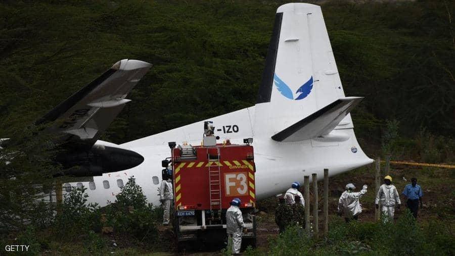 تحطم طائرة كينية ونجاة جميع الركاب